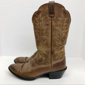 Ariat Heritage R Toe Leather Cowgirl Boots Size 7B